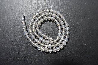 Minerály - Achát sivý fazetovaný 4mm - 7698287_