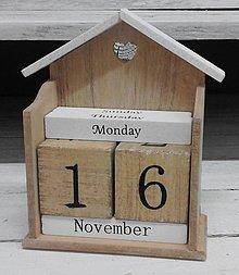 Tabuľky - Drevený kalendár - 7695439_