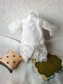 Hračky - Pyžamko s vankúšikom pre bábiku - 27-28 cm. - 7696027_