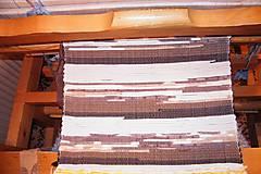 Úžitkový textil - Tkaný hnedý koberec 7 - 7697877_
