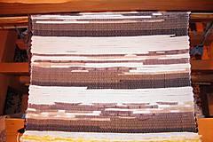 Úžitkový textil - Tkaný hnedý koberec 7 - 7697880_