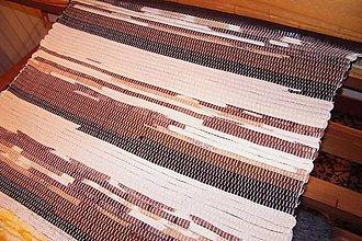 Úžitkový textil - Tkaný hnedý koberec 7 - 7697872_