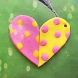 Náhrdelníky - ❤ Valentínske srdiečko puntíky (prívesok) - 7698602_
