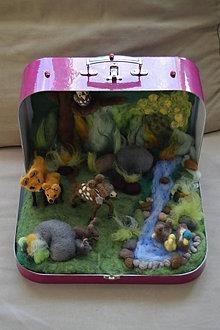 Hračky - Les v kufríku bez zvieratiek - 7700957_