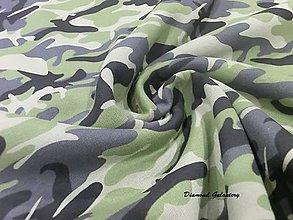Textil - Úplet Maskáč olivový - cena za 10 cm - 7699271_