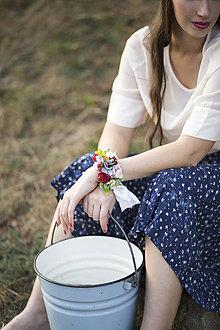 """Náramky - Kvetinový náramok  """"Vôňa jesene s hruškami"""" - 7701635_"""
