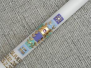 Svietidlá a sviečky - krstová sviečka Oli - 7700158_