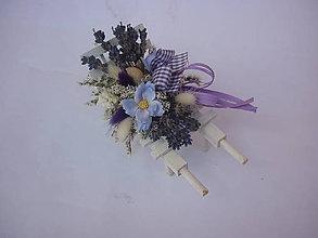 Dekorácie - Levandulové miniatury - trakárek - 7698810_