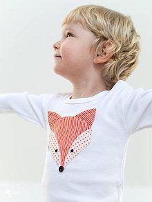 Detské oblečenie - body LÍŠKA (dlhý/krátky rukáv) - 7699662_