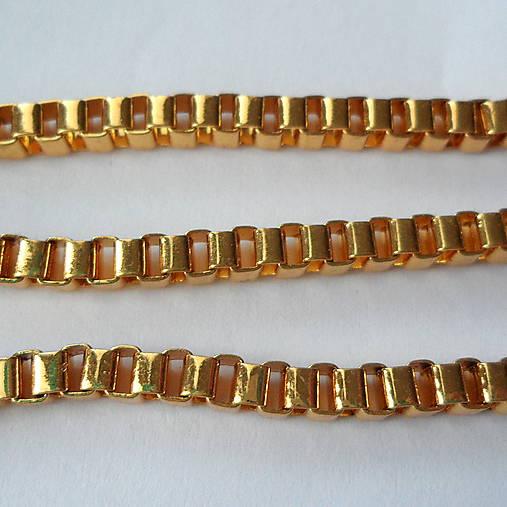 Kov.retiazka 4x3mm-zlatá-1m