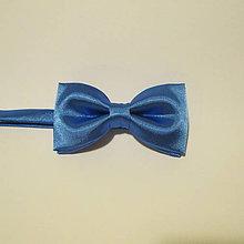 Doplnky - jednofarebný pánsky motýlik - AKCIA 4€/ks (modrý) - 7701527_