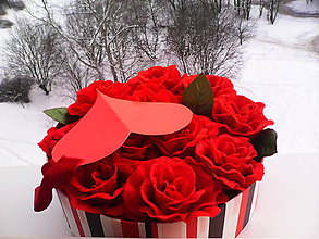 """Dekorácie - Kvetinový box """"...červené ruže"""" - 7701033_"""