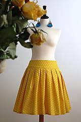 Sukne - slnečná suknička - 7701264_