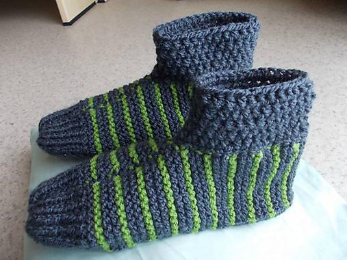 9826c3b2e8c5c Členkové papuče pánske / Niko74 - SAShE.sk - Handmade Obuv