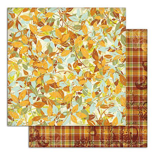PS115_1 Obojstranný papier č.1  30,5 x 30,5 cm 180g/m² LISTY A PRÍRODA