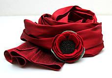 Šály - Divý mak darčeková kolekcia - 7699496_