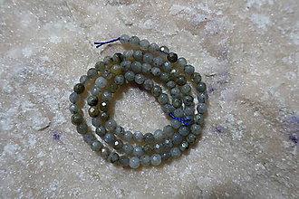 Minerály - Labradorit os. fazetovaný 4mm - 7700697_