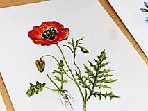 Obrazy - Bylinka v akvareli podľa želania - 7699670_