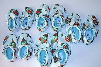 Topánočky - látkové capačky - 7699282_