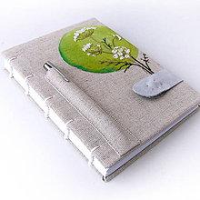 Papiernictvo - Vyšívaný zápisník Bederník - 7699521_