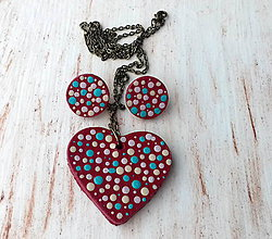 Sady šperkov - bodkovaná sada - 7699180_