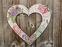 Dekorácie - Drevené srdce - 7699721_
