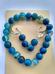 Sady šperkov - Modrý achát (-20%) - 7701758_