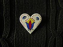 Odznaky/Brošne - Srdiečko - 7699708_