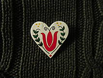 Odznaky/Brošne - Srdiečko - 7699741_