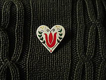 Odznaky/Brošne - Srdiečko - 7699742_