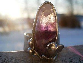 Prstene - Ametyst so srdiečkom - tiffany - 7703971_
