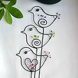 Dekorácie - malý vtáčik - 7703863_