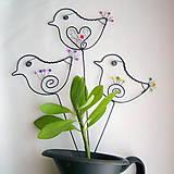 Dekorácie - malý vtáčik - 7703864_