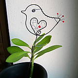 Dekorácie - malý vtáčik - 7703868_