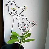 Dekorácie - malý vtáčik - 7703874_
