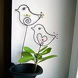 Dekorácie - malý vtáčik - 7703875_