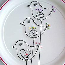 Dekorácie - malý vtáčik - 7703877_