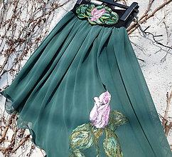 Sukne - Sukňa vo farbe smaragdu... - 7705103_