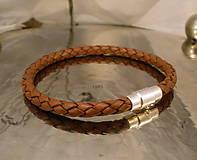 Šperky - Bionet brown 5mm - 7705157_