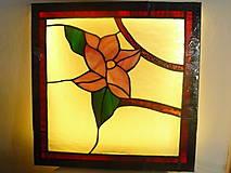 Svietidlá a sviečky - Kvet magnólie - svietiaci obraz - 7704528_