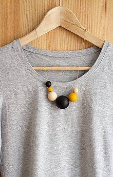 """Náhrdelníky - náhrdelník """" MINIMAL 29"""" - drevo maľované akrylom - 7702803_"""