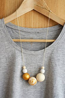 """Náhrdelníky - náhrdelník """" MINIMAL  31""""- drevo maľované akrylom - 7702899_"""