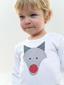 Detské oblečenie - body VLK (dlhý/krátky rukáv) - 7704691_