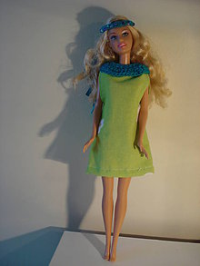 Hračky - Barbie, zelené letné šatôčky - 7702610_