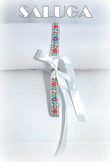 Opasky - Folklórny biele opasok - dámsky - folk - ľudový - 7703421_