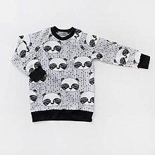 Detské oblečenie - BIO detská mikina - panda sivá - 7703999_