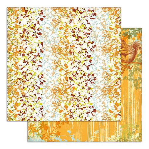 PS115_6 Obojstranný papier č.6 30,5 x 30,5 cm 180g/m² LISTY A PRÍRODA