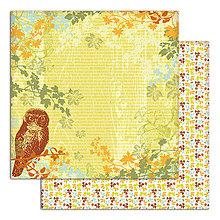 Papier - PS115_5 Obojstranný papier č.5 30,5 x 30,5 cm 180g/m² LISTY A PRÍRODA - 7704758_