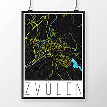 Grafika - ZVOLEN, moderný, čierny - 7704284_