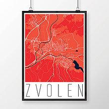 Grafika - ZVOLEN, moderný, červený - 7704288_